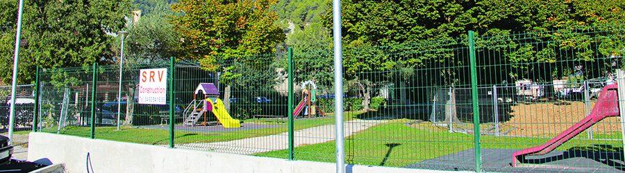 Jardin d'enfants de la piscine.  Restructurer l'espace