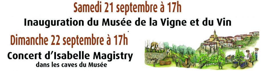 Journées du Patrimoine : Inauguration du Musée de la Vigne et du Vin